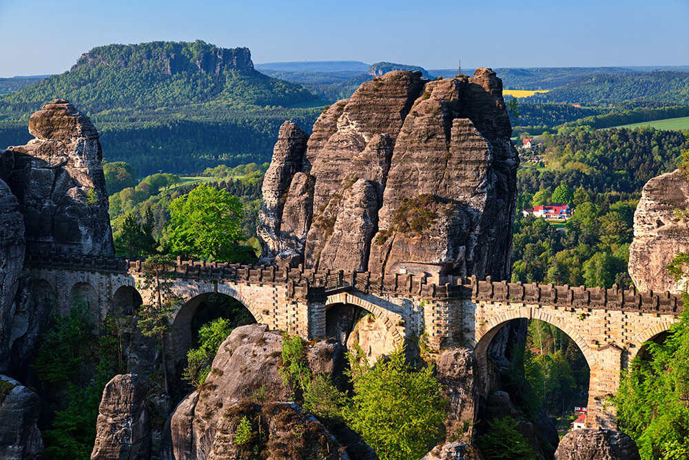 Bastei bridge in Saxon Switzerland