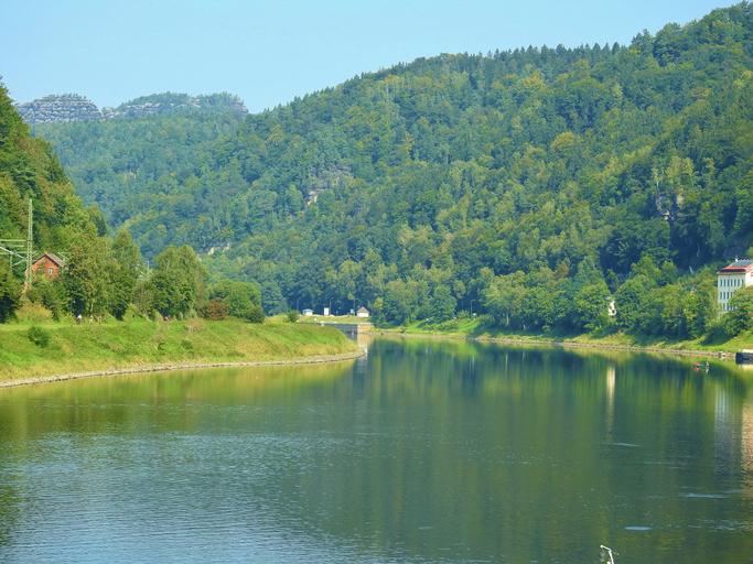 Elbe River in Hrensko Czech Republi