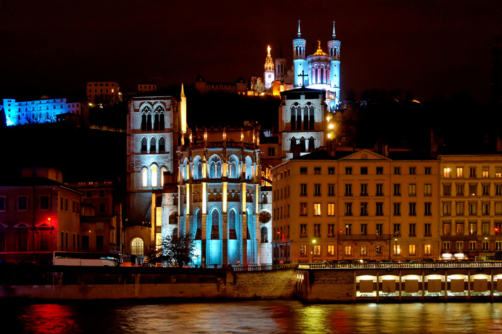 Fourviere Hill Lyon France Festival of lights
