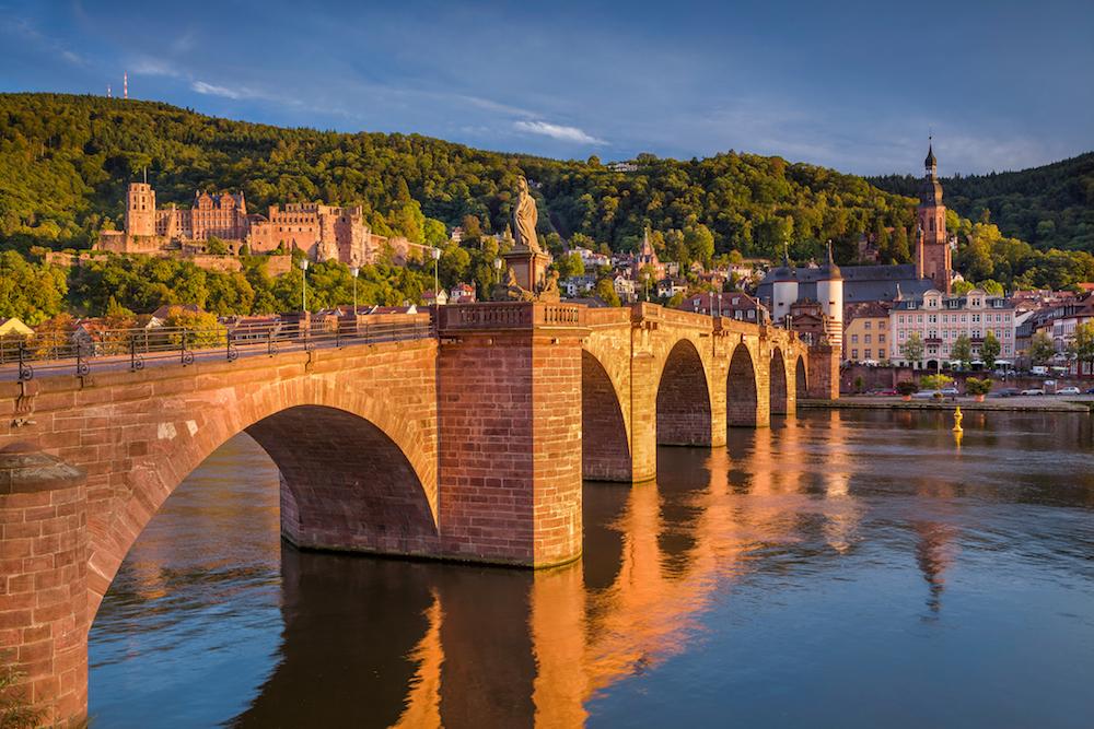 Heidelberg sunset bridge