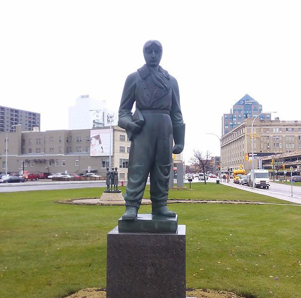 William Stephenson Statue Winnipeg Leo Mol