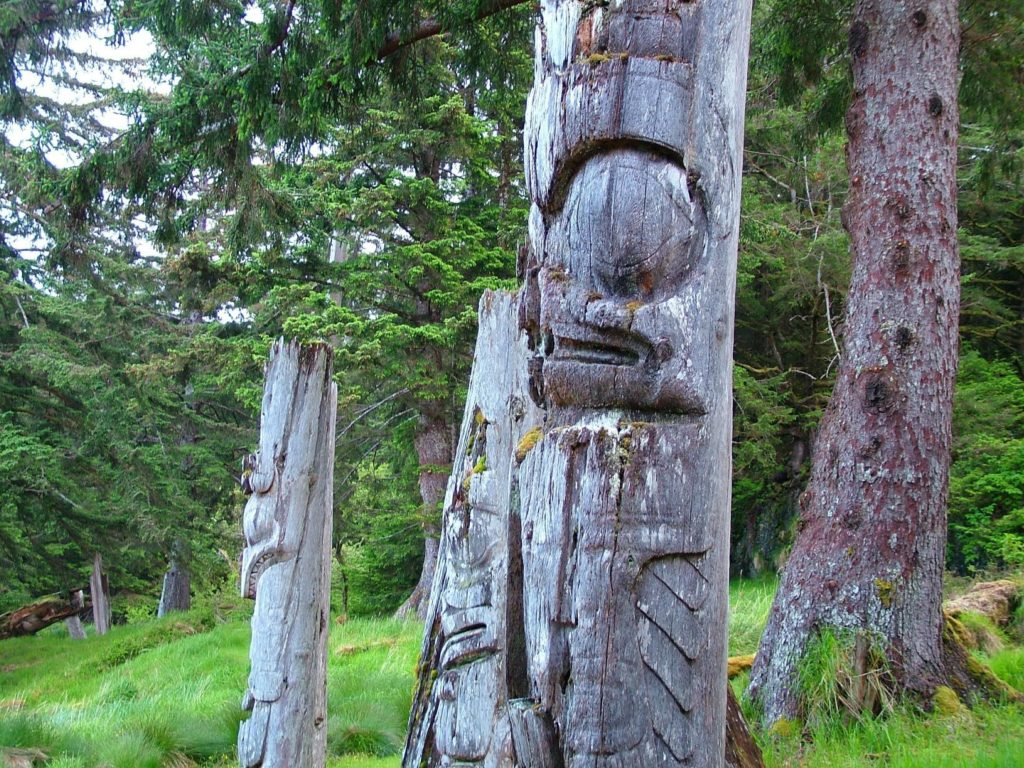 Haida Gwaii Totem Poles British Columbia