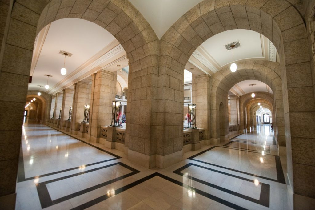 Manitoba Legislature Hermetic Code Tour Hall