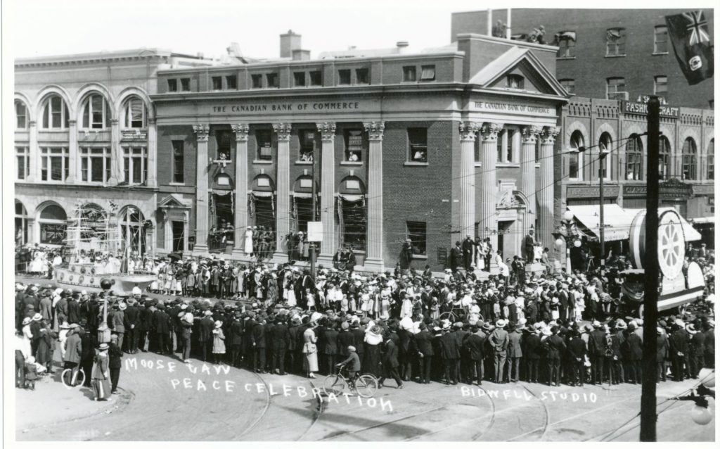 Moose Jaw Peace Celebration WW1 Parade