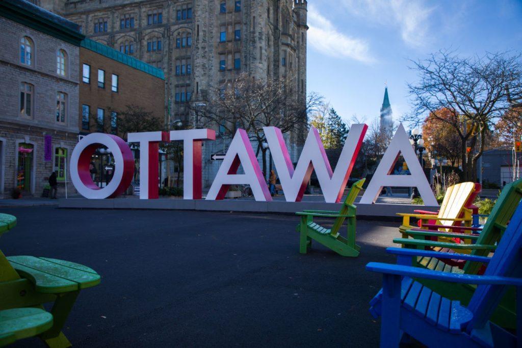 Ottawa Byward Market Sign One Day in Ottawa