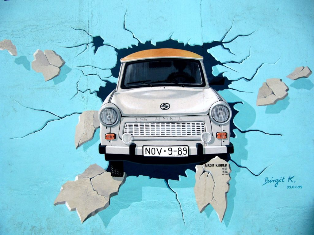 Trabant Breaking Through The Wall
