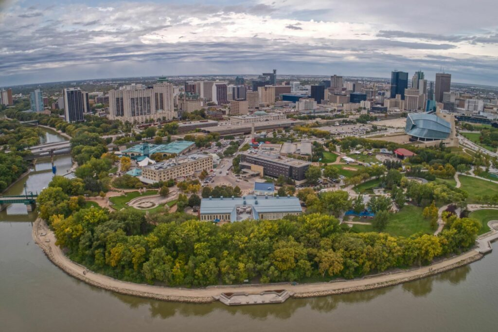 Winnipeg Aerial i Stock 1218669427