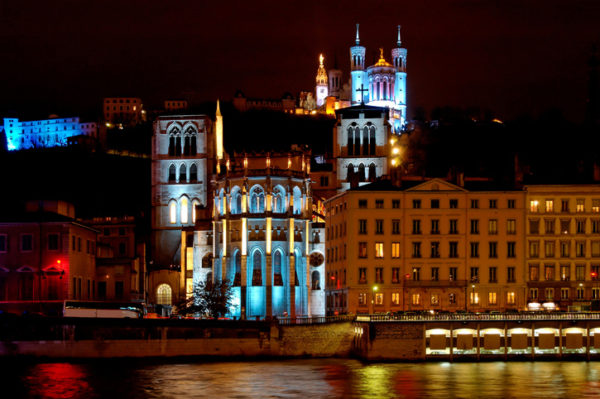 Fourviere Hill Lyon France Festival of lights