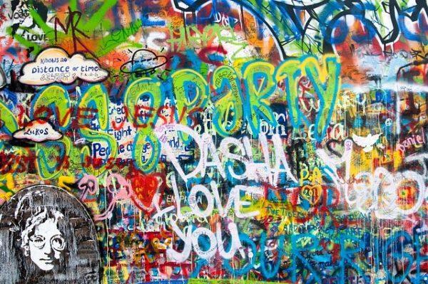 John Lennon Graffiti Wall Prague