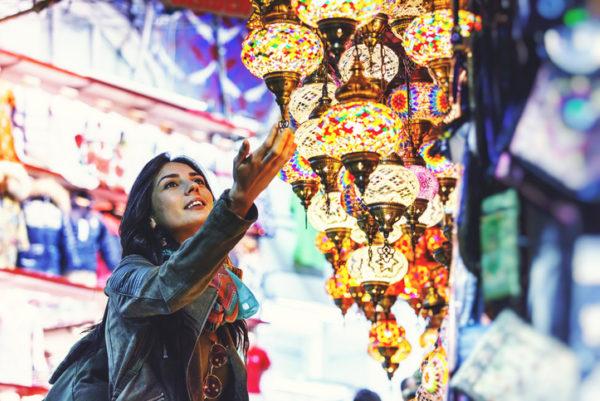 Lamps in Istanbuls Grand Bazaar