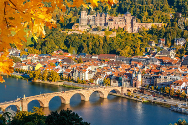 View on Heidelberg at autumn Germany