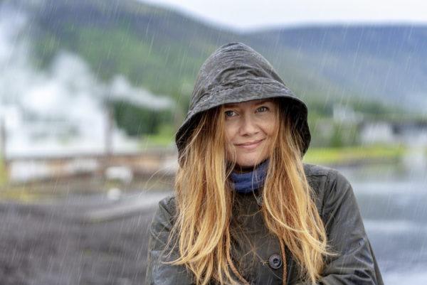 Women in rain in dresden
