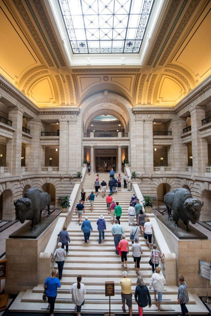 Manitoba Legislature Hermetic Code Staircase Mike Harper