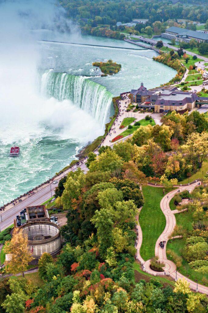 Niagara Falls Aerial Autumn Final