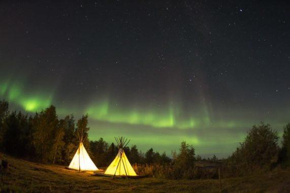 Des aurores boréales à Yellowknife